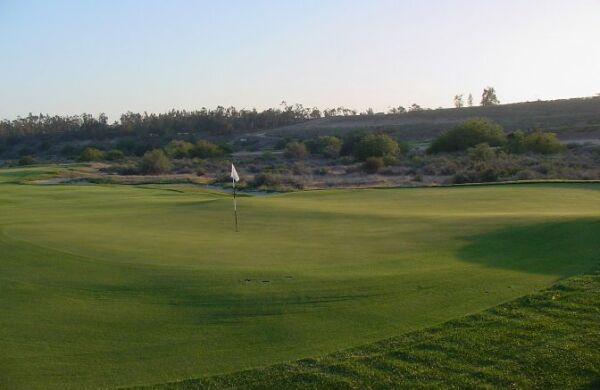 The ridge that runs through the middle of the 11th green is highlighted above.