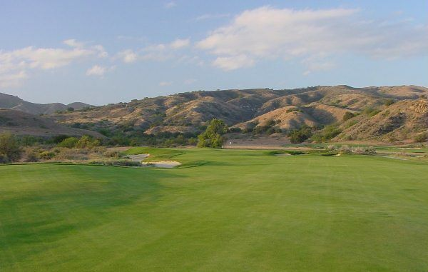 One of the advantages to being set in a canyon is the spectacular and varied nature of the backdrops, such as here at the 11th and the 12th hole below.