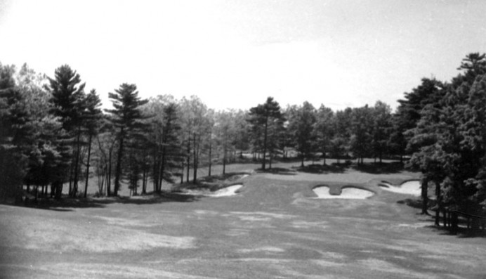 The seventh hole at Marshfield, pre-1938.