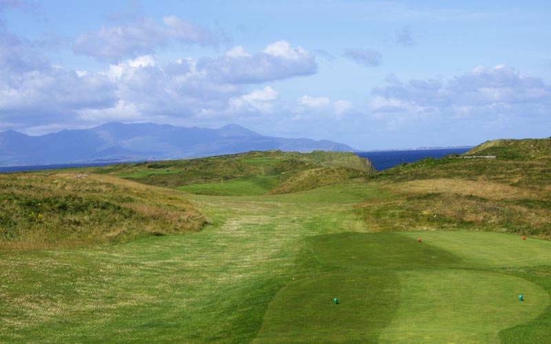 The golfer has to get a good drive away at the twelfth as otherwise...