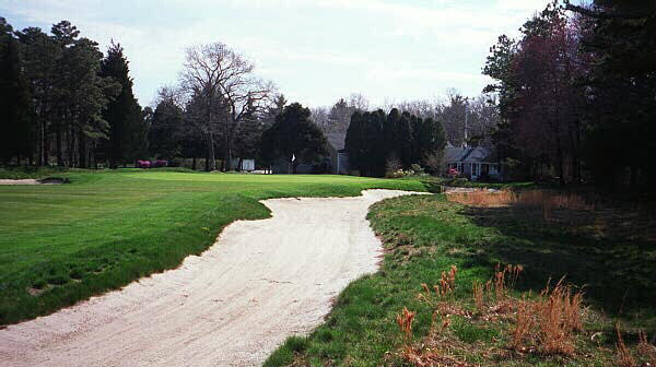 Hanse restored the 9th greenside bunker so that once again it comes back some thirty yards