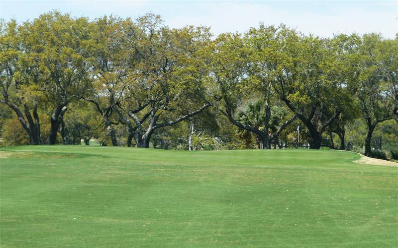 The seventh hole features one of the course's most interesting approach shots, thanks to the green's two plateaus.