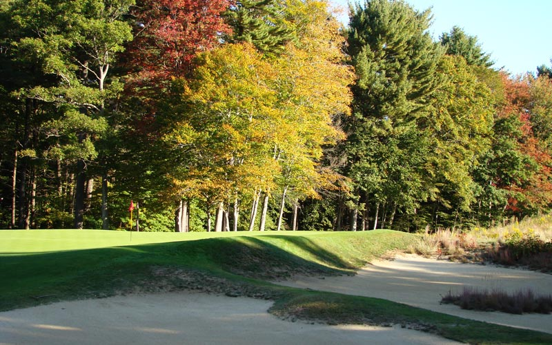 ...nor is right, where these massive 5,000 square foot bunkers guard the green.