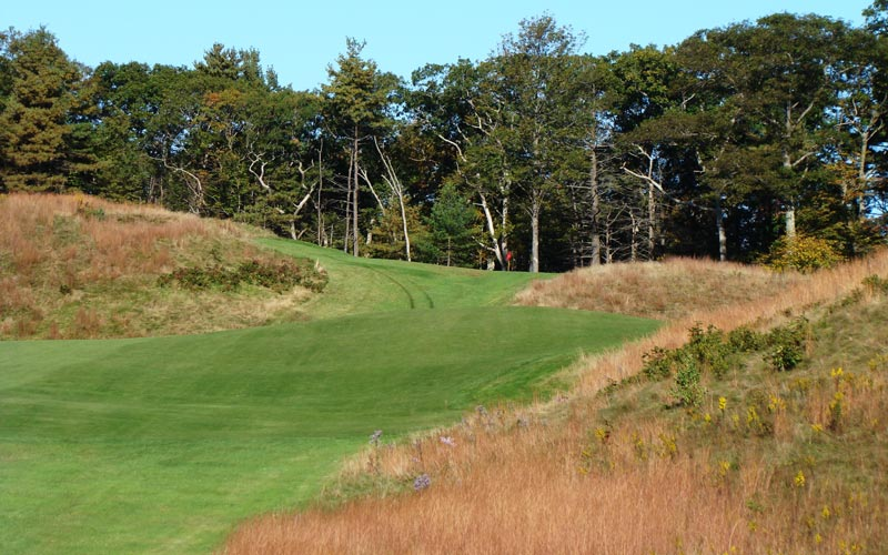 Though not a long hole, the eighty foot climb from tee to green is yet another example as to how a 6,400 yard course can demand great ball striking.
