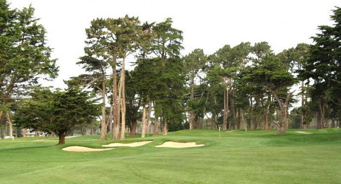 The green of Harding's sixth hole.