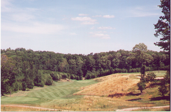 The natural 445 yard 12th, with part of the 13th green visible at right.