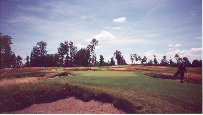 The narrow 2nd green.