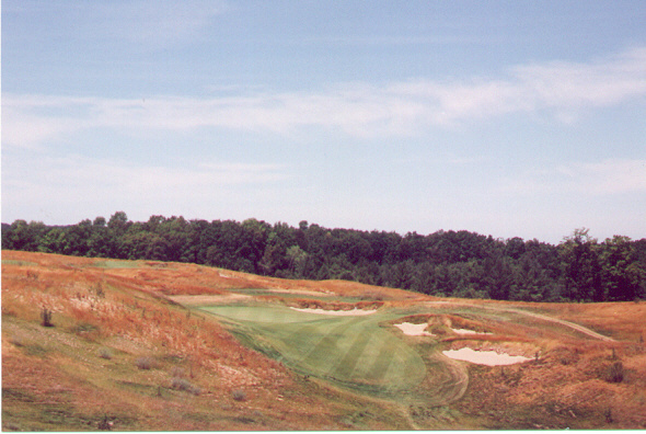 From the tee, the 5th is intimidating, but