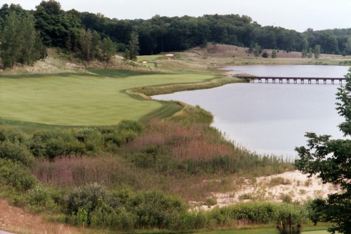 Visually, Lost Dunes is a handsome course with great texture. Pictured is the view from the 14th tee.