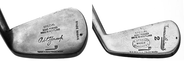 Two famous clubs from the great Scot clubmaker Tom Stewart.
