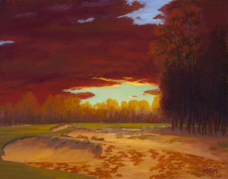 Nearing Sundown at Pinehurst #2, 7th Hole
