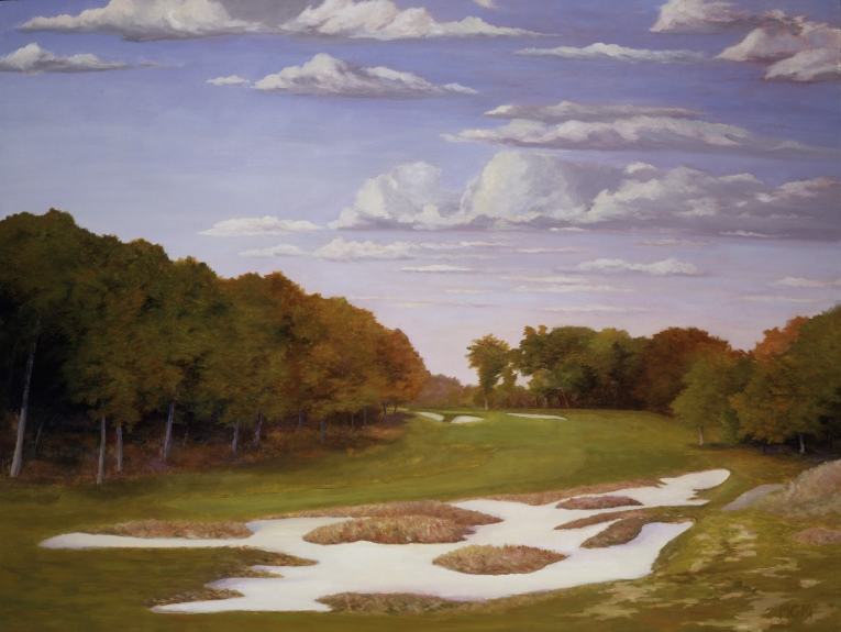 """Early Autumn at Bethpage Black, the 5th"""