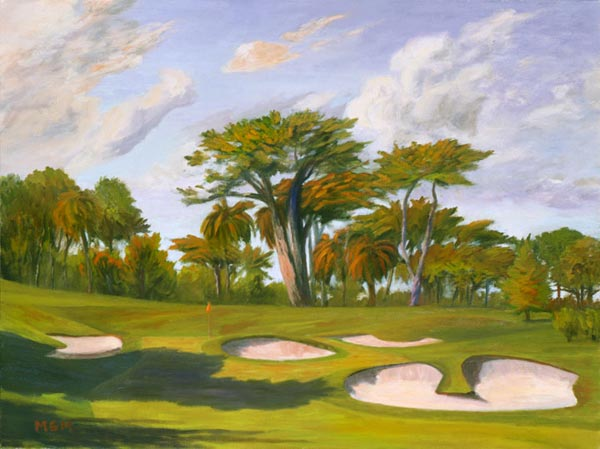 Approach to a Small Target, the eighteenth at The Olympic Club (Lake Course), c. 2000