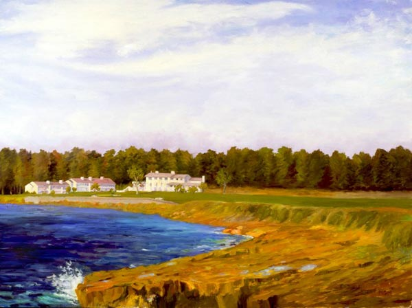 Eighteenth Hole and Del Monte Lodge at Pebble Beach, c. 1955