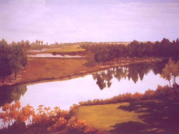 Calm afternoon, the 5th at Pine Valley Golf Club, c. 1923
