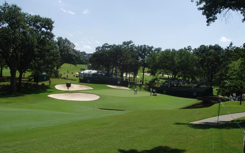 The twelfth green during the 2007 PGA Championship.