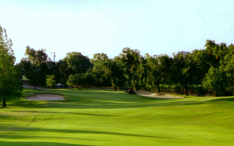 Next, three is a tough par-three with a hurly-burly green.