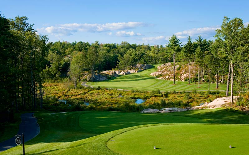 Carved through the granite rock of the 'Canadian Shield', Muskoka Bay's ninth yields some spectacular golf.
