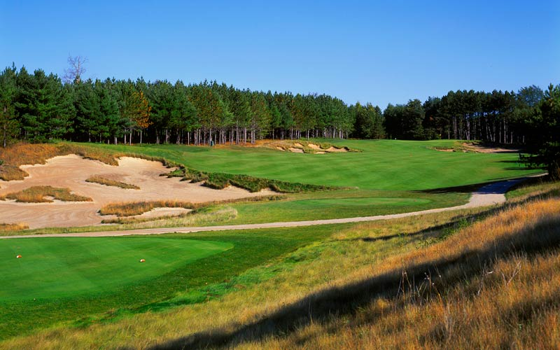 Eleven years later, Carrick would design two more courses at Osprey Valley, including the well-regarded Hoot Course, seen above.