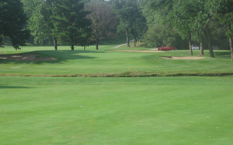 The second green before the work.