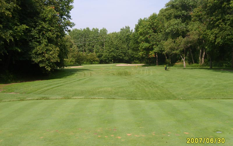 The old third as seen from the tee.
