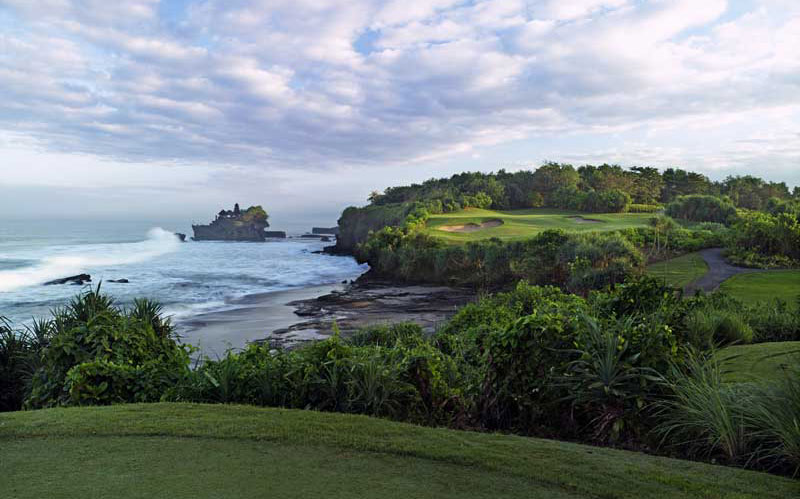 Bob Harrison's tremendous par three seventh at Nirwana Bali.