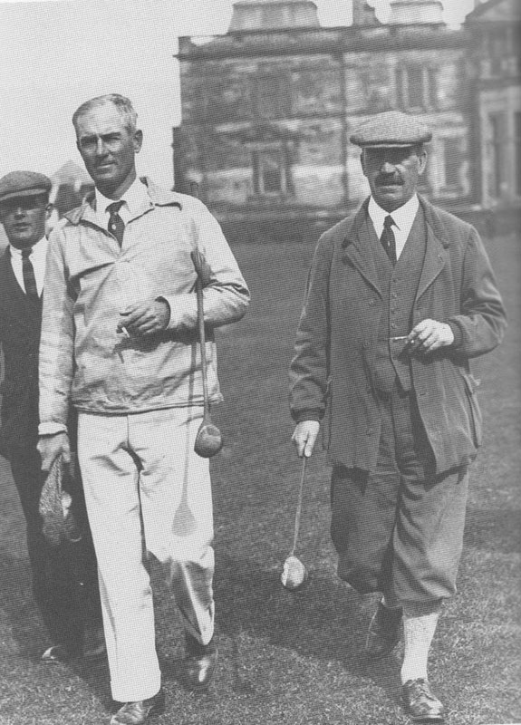Max Behr and Alister MacKenzie at the Old Course, 1929