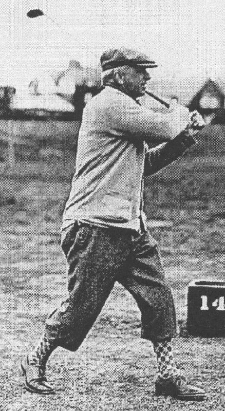 Joshua Crane at the International Seniors Match, 1928