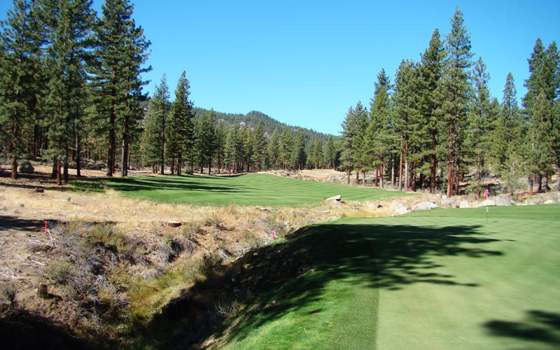 This view from behind the fifteenth green