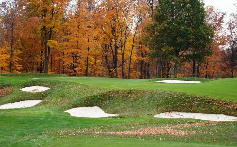 ...the golfer enjoys this tantalizing pitch shot.