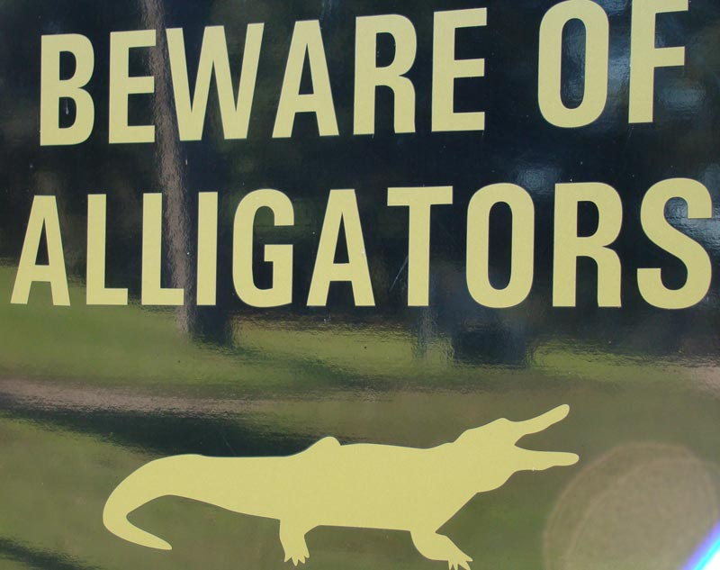 ... don't say you weren't warned as this sign greets the golfer on the tee.