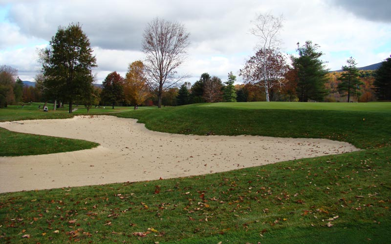 The new greenside bunker at the eighth is both deeper and larger than any bunker that existed before Goff purchased the course.