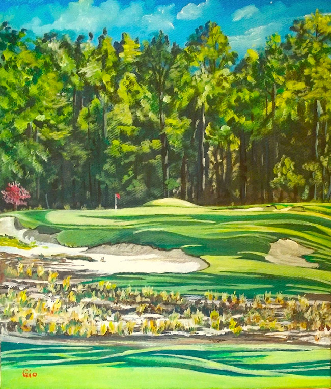 What Coore and Crenshaw have wrought upon Pinehurst #2's splendid par 3 #9 would surely bring a gleam to the eye of its creator, Donald Ross.