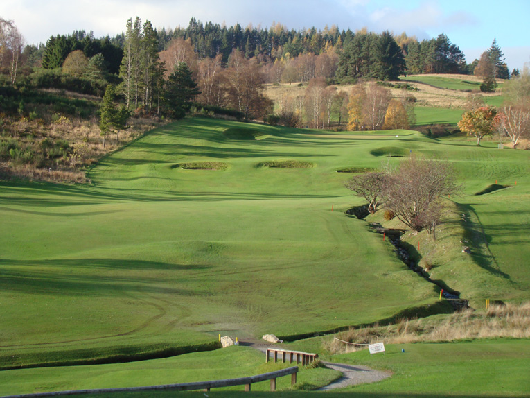 Despite being uphill, the golfer looks forward to tackling the first at Pitlochry.