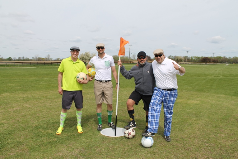 Some happy foot golf players!