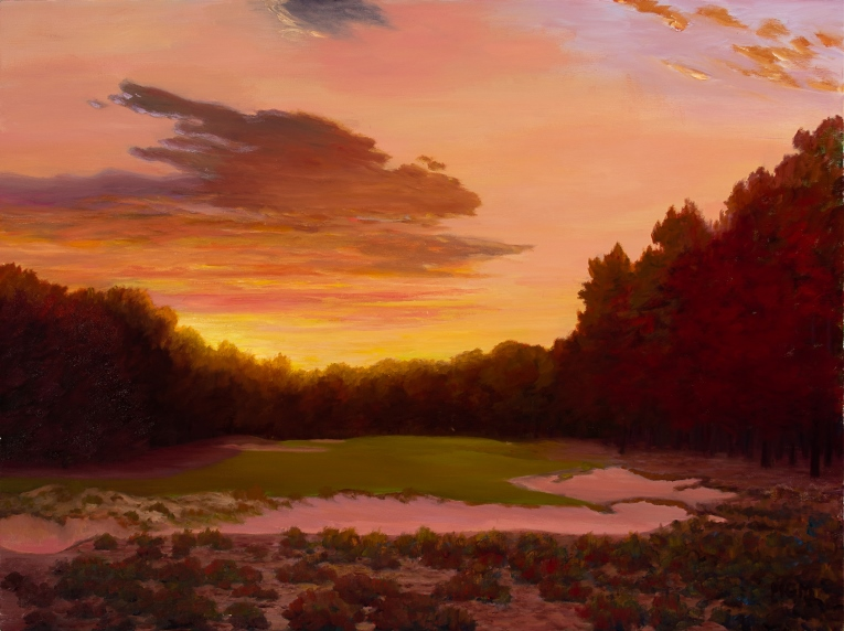 """Pinehurst #2, The Eighth at Sun Up"""