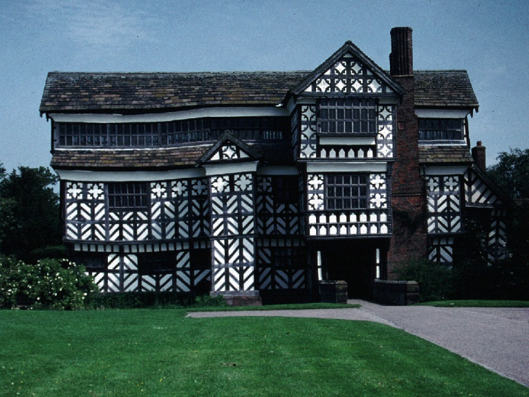 Little Moreton Hall, one of the finest Tudor houses in Cheshire.
