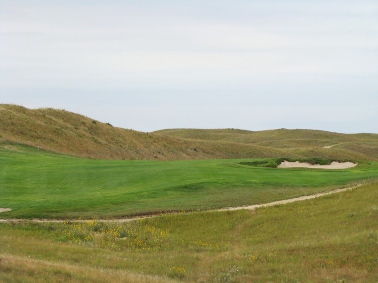 After the uphill tee shots at the second and here at the eleventh, …