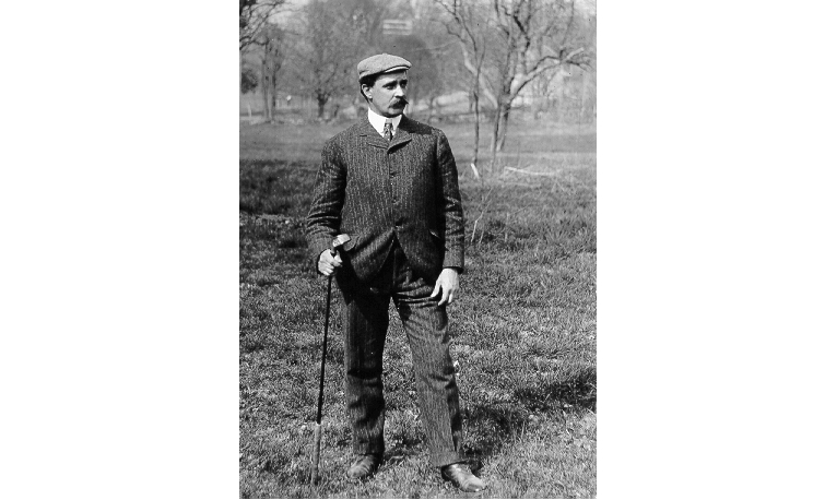 "Tom Bendelow, the ""Johnny Appleseed of American Golf"" (Credit: Michigan State University)."