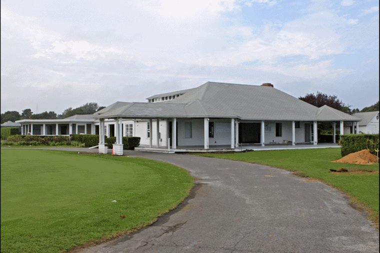 Immediately before it was demolished in September 2012, the original clubhouse looked very much as it had more than 100 years earlier (Credit: Neil Salvaggio).