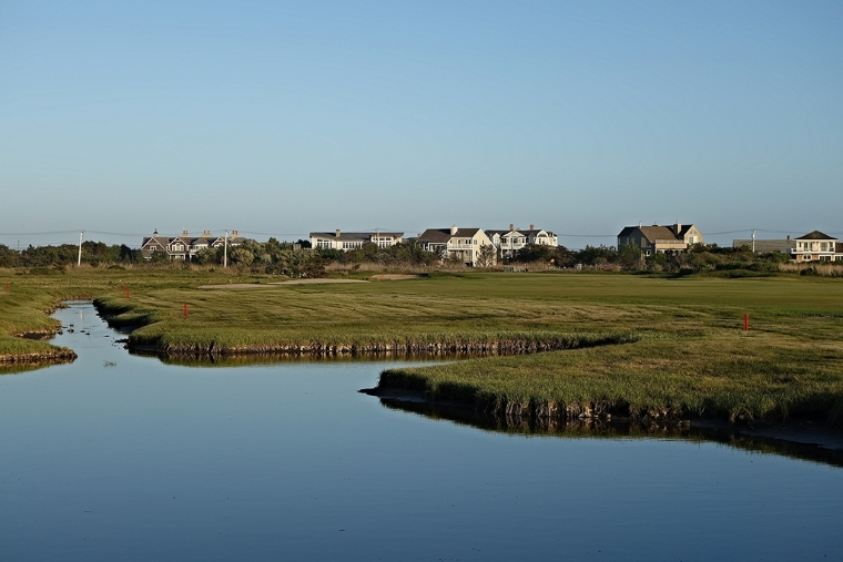 ...but also the inlet from the bay on the left, invisible from the tee, that separates the 5th from the 6th.