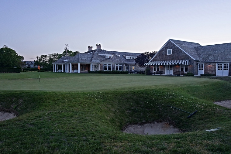 The proximity of the clubhouse and pro shop to the final, two-tiered green evokes a timeless tradition and ensures that efforts not to misplay an approach on the home hole will be closely watched.