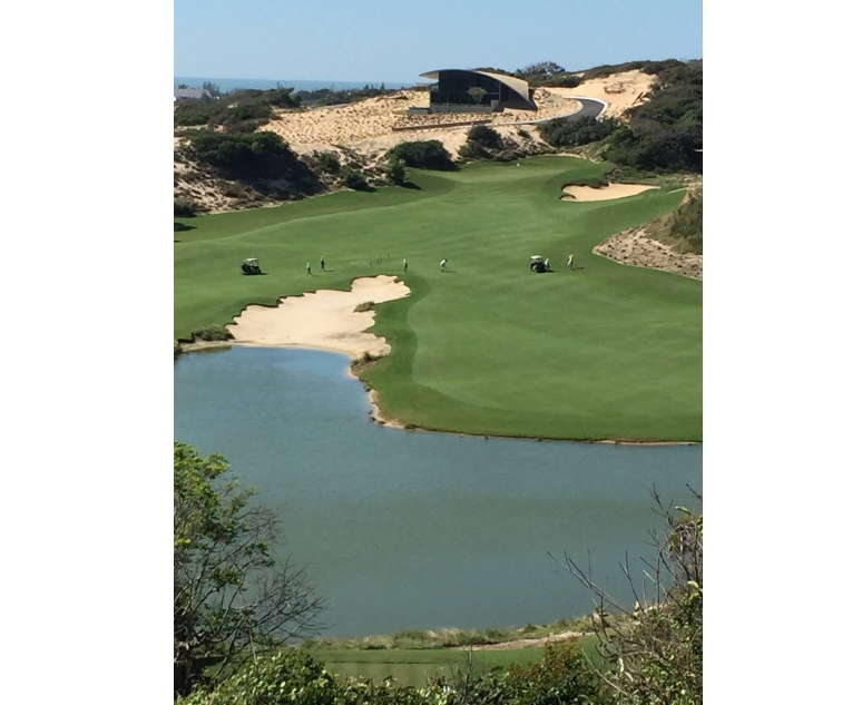 One of Greg Norman's best - the eighth hole on the Bluffs in Vietnam.