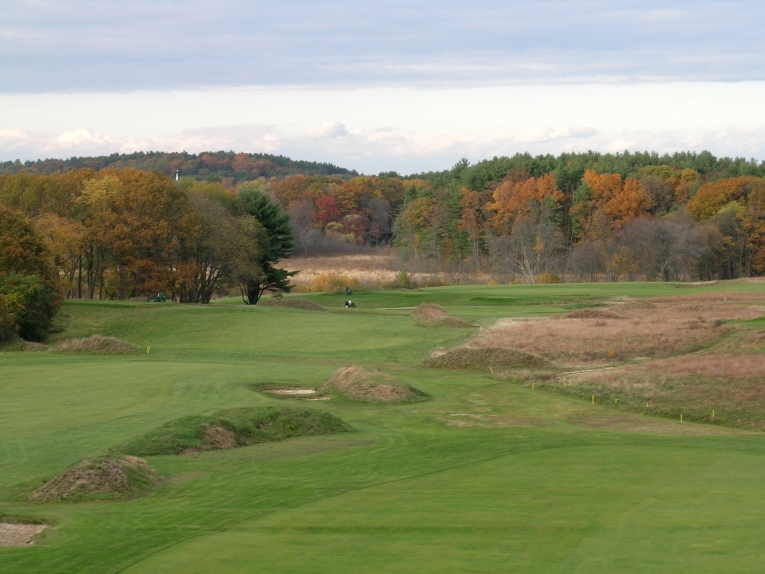 A rider on the bridal paths that largely predate the golf course.