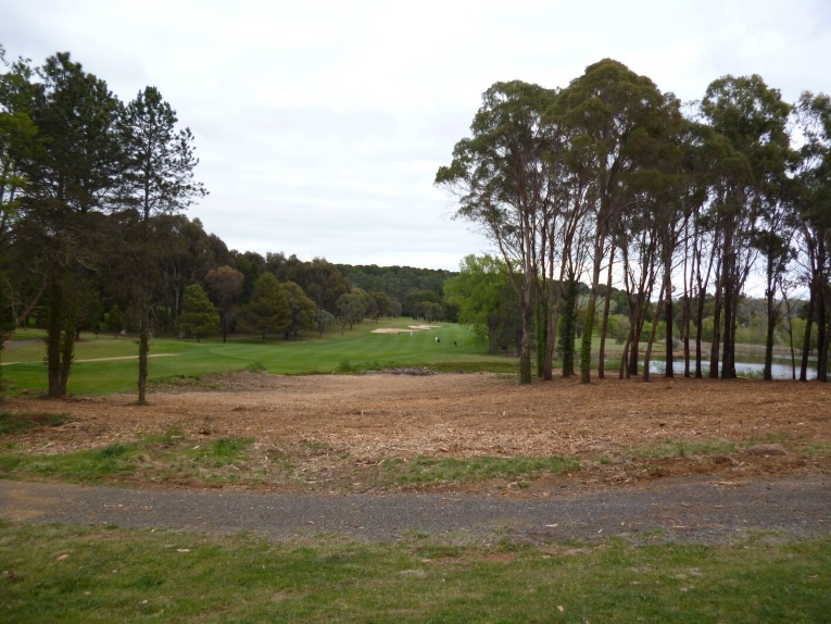 The 14th at Royal Canberra before ...