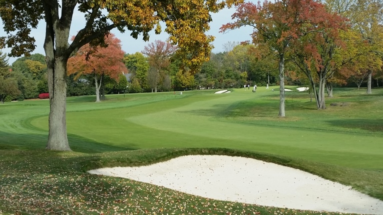 Perhaps the most demanding drive on the course. Top amateur competitors in Winged Foot's annual Anderson Memorial Four-Ball tournament will tend to bail out left into the rough off the tee if the wind is into them in order to avoid being blocked by the trees on the right, but that further lengthens the approach shot.
