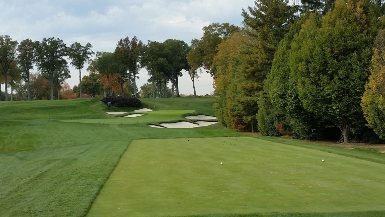 …a more open setting where the wind is allowed to play a bigger factor on this long uphill par-3