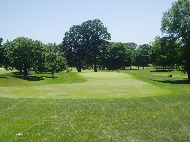 Similar to the 3rd, the 17th green had become very circular and the false front had evolved into part of the fairway. The rough on the left side in particular crept in over 10 feet onto the green pad.