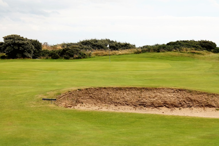 A large bunker some 40 yards short right of the green works in perfect concert with a small bunker front left and the tightly mown back right mound to create challenges - and opportunities - for all caliber players.
