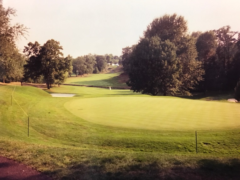 The view from behind the tenth green in 2000 and ...